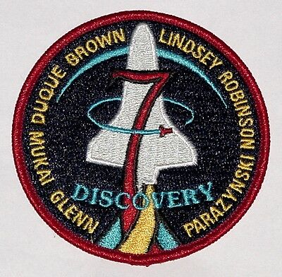 Aufnäher Patch Raumfahrt NASA STS 95 Space Shuttle Discovery ...........A3165