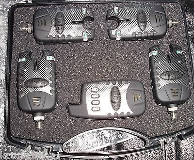 KFS Indicatore di abboccata wireless 4 + 1 Set Luci Traffico Carpfishing