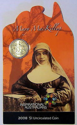 2008 Mary MacKillop $1 coin - 29,802 Mintage - Inspirational Australian Series