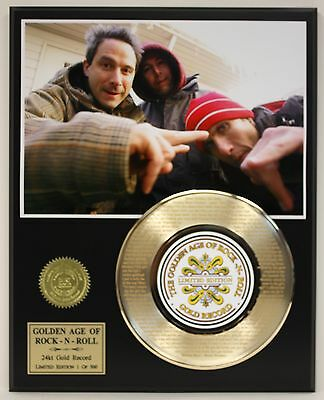 Beastie Boys  Laser Etched With Lyrics Limited Edition Gold Record Display