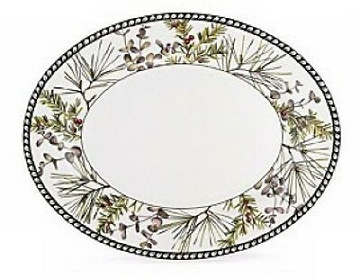 "Lenox Etchings 16"" Large Oval Platter NWT"