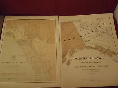 Alaska Boundary Tribunal Atlas of Award maps 1904 Alaska & ceded Russia lands