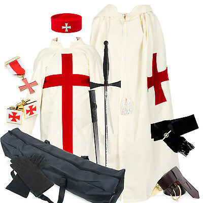 BARGAIN Full KT Regalia Pack (Tunic Mantle Jewels Belt Bag etc) Knights Templar