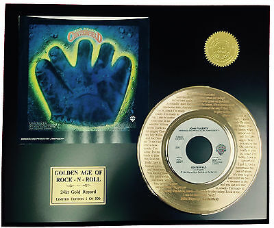 John Fogerty  Laser Etched With Lyrics Limited Edition Gold Record Display