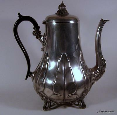 Antique Victorian (1836-1846) Britannia Metal (Pewter) English Coffee Pot Stacey