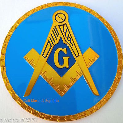 Masonic Link Chain Design  Auto Emblem FreeMasonry Car Lodge Mason Freemason #1