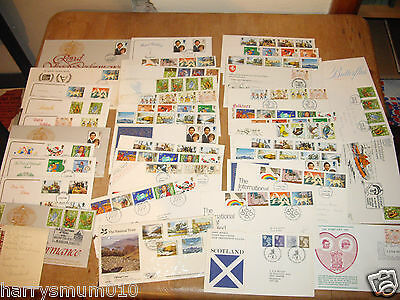 first day cover GB 1981 x 42 covers collection