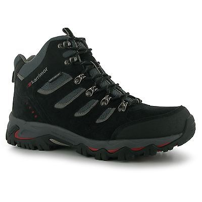 Karrimor Mount Mid Walking Breathable Hiking Trekking Boots Lace Up Gents Mens