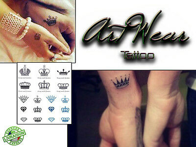 Lots Tatouages Temporaires Crown pack ARTWEAR Tattoo Temporary Sticker fake faux
