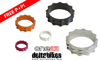 "One23 Bicycle Headset Spacers Stackers 1 1/8"" 28.6 Alloy MTB Road High Quality!!"