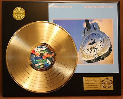 Dire Straits Brothers In Arms Gold Lp Record Ltd Edition Record Display
