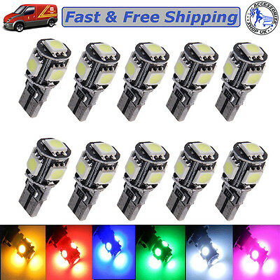 Side Light Car T10 501 194 168 W5W 5SMD LED ERROR FREE CANBUS Bulb UPTO 10X