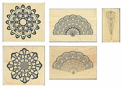 MANDALA Personal Impressions P1632Q - Wood Mounted Rubber Stamp