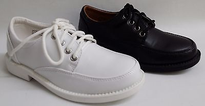 NEW Kids Little Big Boys SCHOOL RIDER Jackie350 Faux Leather White Lace Shoes