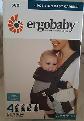 Ergobaby 360 Four Position, Ergo Baby Carrier,  / COOL AIR CARBON GREY