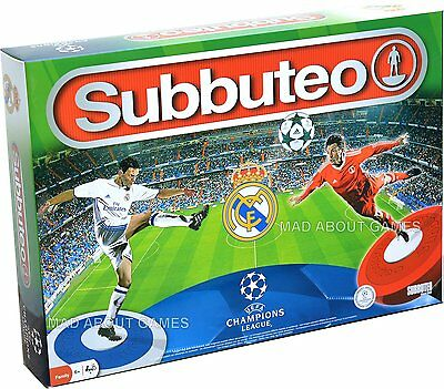 Official REAL MADRID FC 2017 Subbuteo Game Set Boys Mens Gift Football Soccer