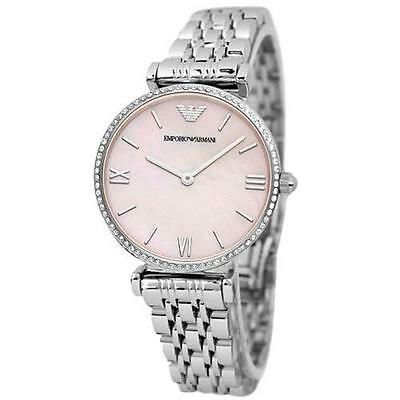Emporio Armani® watch AR1779 Ladies Gianni T-Bar Mother of Pearl