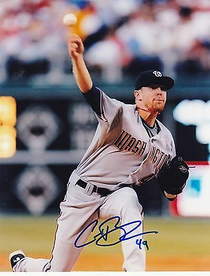 COLIN BALESTER   WASHINGTON NATIONALS    ACTION SIGNED 8x10
