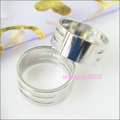3 New Tool Opening Closing Finger Jump Rings Dull Silver Plated 8x19mm