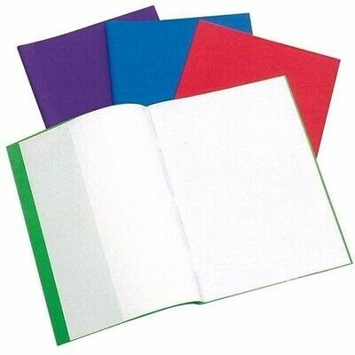"""5Pk Exercise Book Covers / Jackets Bright Coloured Reusable 9"""" x 7""""  FMEBBC-5"""