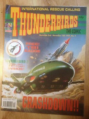 THUNDERBIRDS THE COMIC~ Issue # 2 (including free gift)