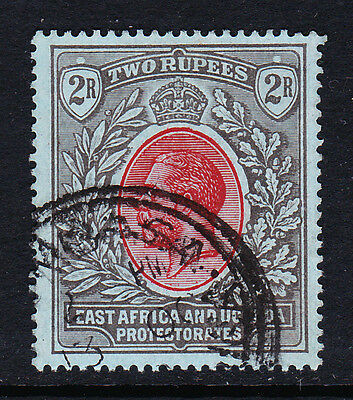 EAST AFRICA & UGANDA PROTECTORATES 1912-21 2r RED & BLACK SG 54 FINE USED.