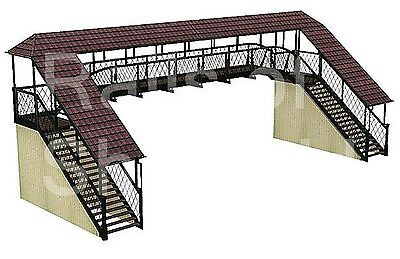 Bachmann Scenecraft Oo Gauge 44-127 Covered Footbridge *new*