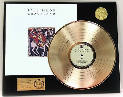 Paul Simon Graceland Gold Lp Record Limited Edition Display