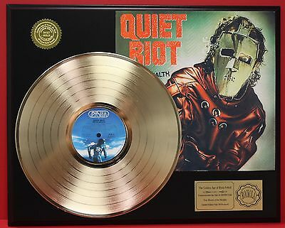 Quiet Riot Metal Health Gold Lp Record Limited Edition Display