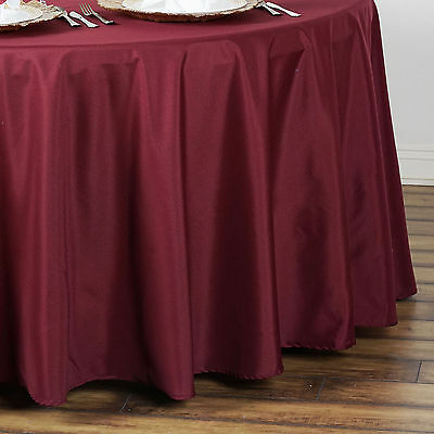 "10 BURGUNDY 90"" ROUND POLYESTER TABLECLOTHS Wholesale Wedding Decorations SALE"