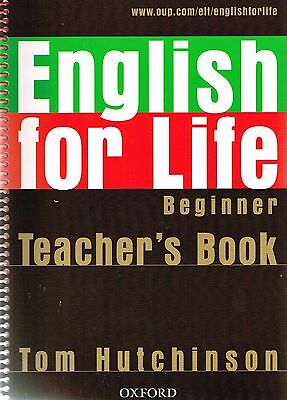 Oxford ENGLISH FOR LIFE Beginner TEACHER'S BOOK with CD-ROM | Tom Hutchinson NEW