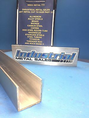 "2"" x 2"" x 24""-Long x 1/8"" Thick 6063 T52 Aluminum Channel"
