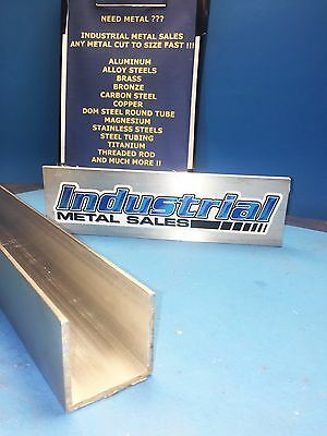 "2"" x 2"" x 60""-Long x 1/8"" Thick 6063 T52 Aluminum Channel"