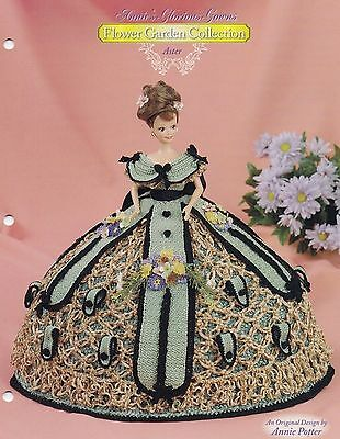 Aster, Annie's Glorious Gowns Fashion Doll Clothes Crochet Pattern 8809