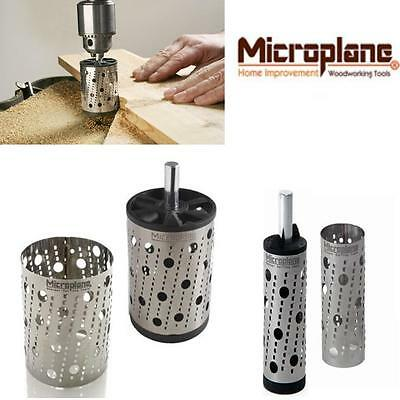 "Microplane Rotary Drum Drill Shapers 2"" 50 mm or 1"" 25 mm Surform Type Rasp Wood"