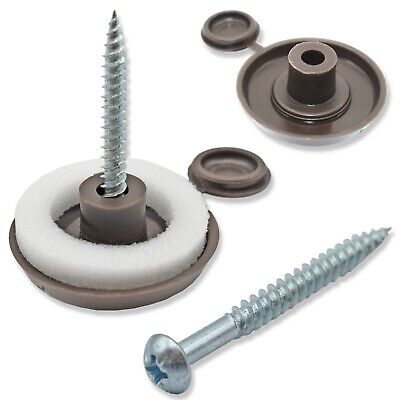 "POLYCARBONATE SHEET 10mm 16mm 25mm FIXING BUTTONS, 2"", 2.1/2"", 3"" SCREW FIX"
