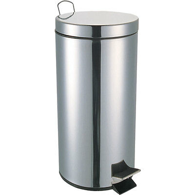 Pedal Bin Set 5 12 20 30 Litre Bathroom Office Waste Stainless Steel Home Modern