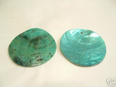 30 x Natural Shell Dyed Bead Discs : BNS68 Turquoise