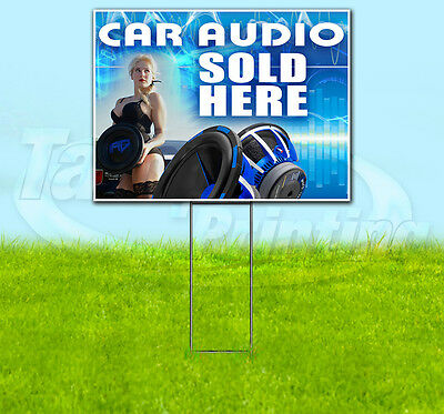 Car Audio 18x24 Yard Sign Retail Store Sign Coro Quantity Discounts Available