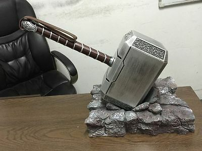 USA Thor's Hammer Stand Base+Hammer H-Q Arrived The Avengers Resin Cosplay Prop