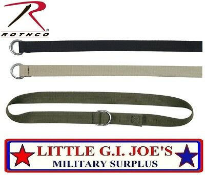 """Web Belt 1.25""""W Military D-Ring Expedition Belt Or Lashing Strap 4174, 4275 B"""