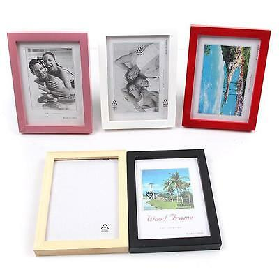 """Personality Wooden Picture Photo Wall Frame Room Office Decor 5""""/6""""/7""""/8"""" - LD"""