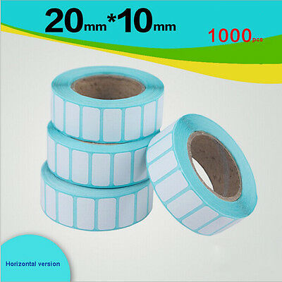 7 rolls Waterproof thermal label paper tagboard 20mm*10mm-1000 self-adhesive