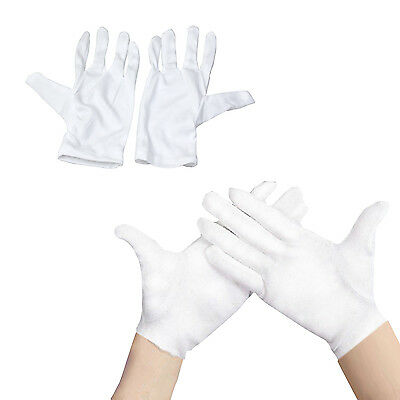 New White Magician, Clown Gloves Wizard Prop Adult Unisex Fancy Dress Accessory