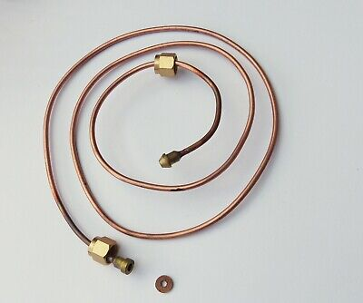 Oil Pressure Copper Feed Pipe for Smiths Gauges, 37 inch, MGB part AHH6678