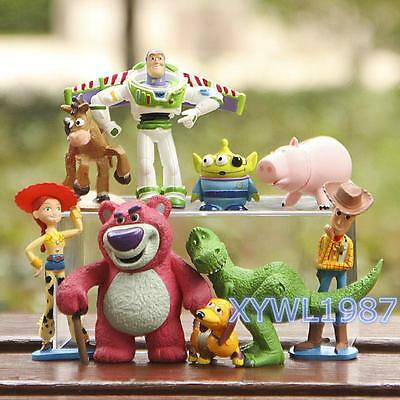 9Pcs Set Toy Story 3 Buzz Lighter Woody Jessie Figures Dinosaur Doll Xmas Gifts
