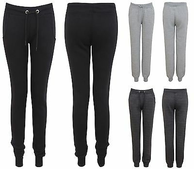 New Ladies Womens Tracksuit Jogging Bottoms Soft Skinny Gym Jogging Pants