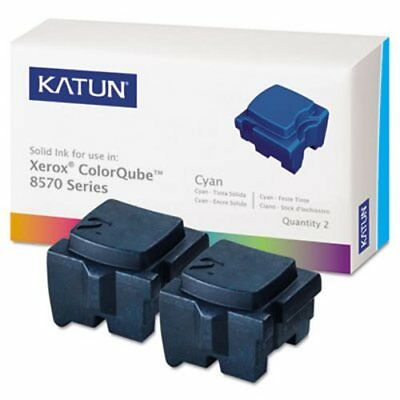 Katun MDA39395 Compatible, 108R00926 Solid Ink Stick, 2/Box, Cyan (KAT39395)