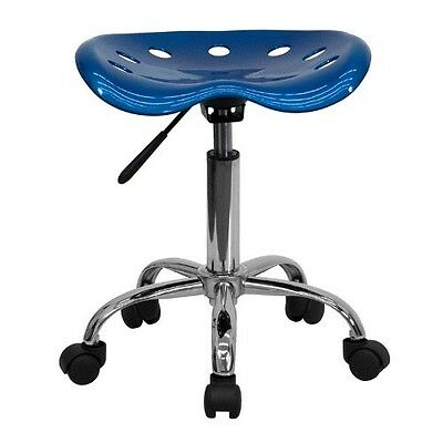 Tractor Seat Stool BLUE Adjustable Office Furniture Garage Rolling Work Chair