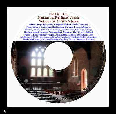 Old Churches, Ministers and Families of Va Vols 1&2 + Wise's Index